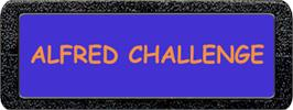 Top of cartridge artwork for Alfred Challenge on the Atari 2600.