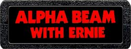 Top of cartridge artwork for Alpha Beam with Ernie on the Atari 2600.