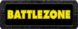 Top of cartridge artwork for Battlezone on the Atari 2600.