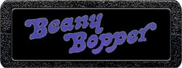 Top of cartridge artwork for Beany Bopper on the Atari 2600.