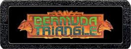 Top of cartridge artwork for Bermuda Triangle on the Atari 2600.