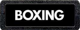 Top of cartridge artwork for Boxing on the Atari 2600.