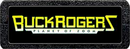 Top of cartridge artwork for Buck Rogers: Planet of Zoom on the Atari 2600.