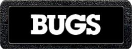 Top of cartridge artwork for Bugs on the Atari 2600.