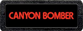 Top of cartridge artwork for Canyon Bomber on the Atari 2600.