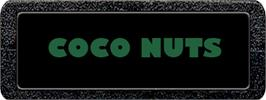 Top of cartridge artwork for Coco Nuts on the Atari 2600.