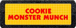 Top of cartridge artwork for Cookie Monster Munch on the Atari 2600.