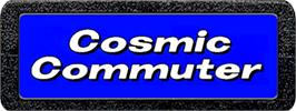 Top of cartridge artwork for Cosmic Commuter on the Atari 2600.