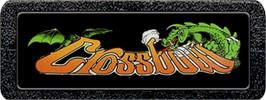 Top of cartridge artwork for Crossbow on the Atari 2600.