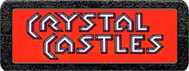 Top of cartridge artwork for Crystal Castles on the Atari 2600.