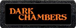 Top of cartridge artwork for Dark Chambers on the Atari 2600.