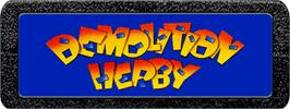 Top of cartridge artwork for Demolition Herby on the Atari 2600.