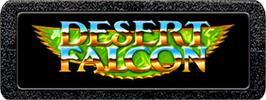 Top of cartridge artwork for Desert Falcon on the Atari 2600.