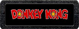 Top of cartridge artwork for Donkey Kong on the Atari 2600.