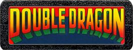 Top of cartridge artwork for Double Dragon on the Atari 2600.