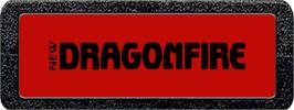 Top of cartridge artwork for Dragonfire on the Atari 2600.