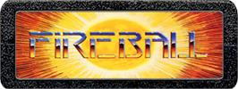 Top of cartridge artwork for Fireball on the Atari 2600.