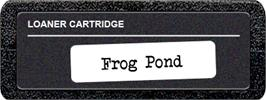 Top of cartridge artwork for Frog Bog on the Atari 2600.
