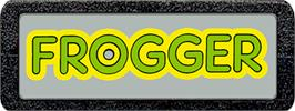 Top of cartridge artwork for Frogger on the Atari 2600.