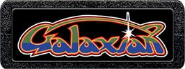 Top of cartridge artwork for Galaxian on the Atari 2600.