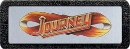 Top of cartridge artwork for Journey Escape on the Atari 2600.
