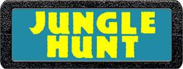 Top of cartridge artwork for Jungle Hunt on the Atari 2600.
