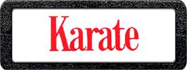 Top of cartridge artwork for Karate on the Atari 2600.
