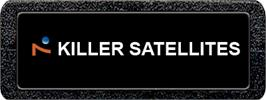 Top of cartridge artwork for Killer Satellites on the Atari 2600.
