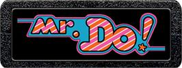 Top of cartridge artwork for Mr. Do! on the Atari 2600.