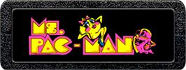 Top of cartridge artwork for Ms. Pac-Man on the Atari 2600.