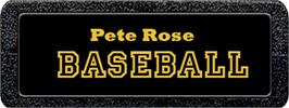 Top of cartridge artwork for Pete Rose Pennant Fever on the Atari 2600.