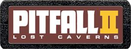 Top of cartridge artwork for Pitfall II: Lost Caverns on the Atari 2600.