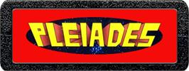 Top of cartridge artwork for Pleiades on the Atari 2600.