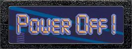 Top of cartridge artwork for Power Off! on the Atari 2600.