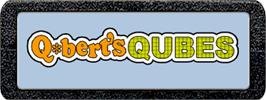 Top of cartridge artwork for Q*Bert's Qubes on the Atari 2600.