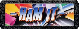 Top of cartridge artwork for Ram It on the Atari 2600.