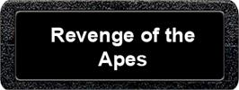Top of cartridge artwork for Revenge of the Apes on the Atari 2600.