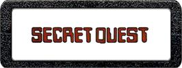 Top of cartridge artwork for Secret Quest on the Atari 2600.