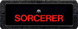 Top of cartridge artwork for Sorcerer on the Atari 2600.