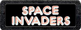 Top of cartridge artwork for Space Invaders on the Atari 2600.
