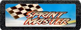 Top of cartridge artwork for Sprintmaster on the Atari 2600.