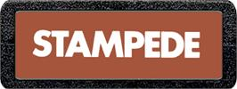 Top of cartridge artwork for Stampede on the Atari 2600.