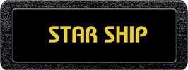 Top of cartridge artwork for Star Ship on the Atari 2600.