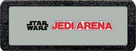 Top of cartridge artwork for Star Wars: Jedi Arena on the Atari 2600.