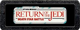 Top of cartridge artwork for Star Wars: Return of the Jedi - Death Star Battle on the Atari 2600.