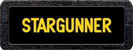 Top of cartridge artwork for Stargunner on the Atari 2600.