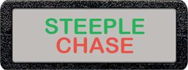 Top of cartridge artwork for Steeplechase on the Atari 2600.