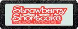 Top of cartridge artwork for Strawberry Shortcake Musical Match-Ups on the Atari 2600.