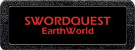 Top of cartridge artwork for SwordQuest: EarthWorld on the Atari 2600.