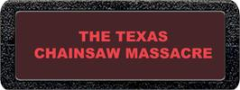 Top of cartridge artwork for The Texas Chainsaw Massacre on the Atari 2600.